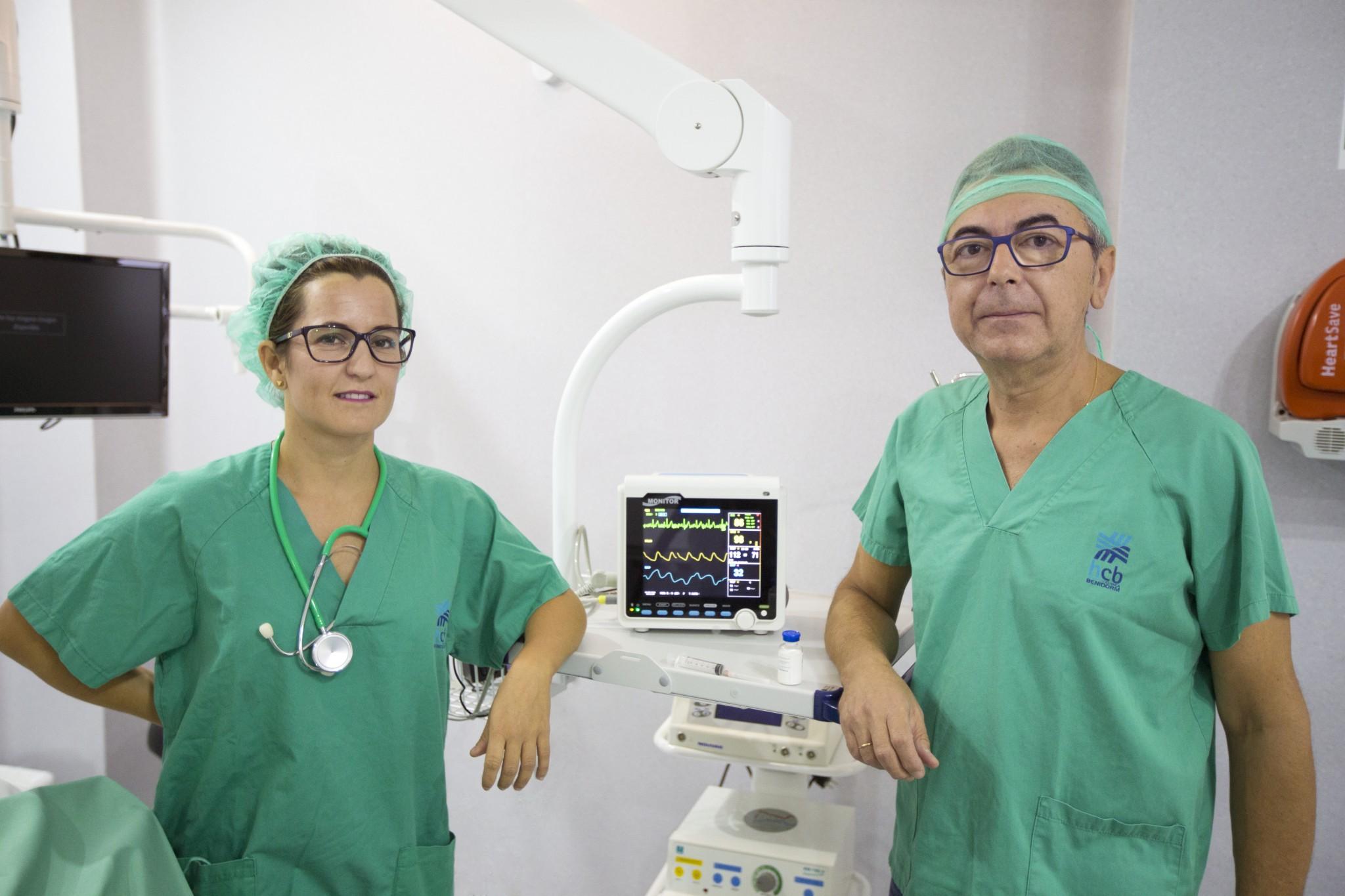 anestesiólogos - anaesthetist - Jaime Masot y Paula Arrarte,